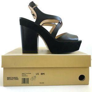 MICHAEL KORS Abbot Platform Heels Black Size 8
